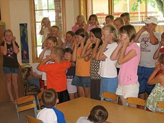 Kids Playing Simon Says