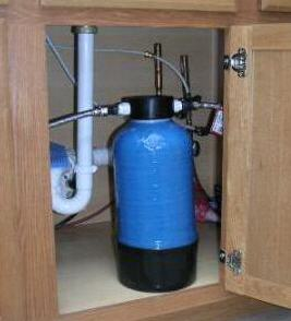 Under cabinet flouride water filtration system image