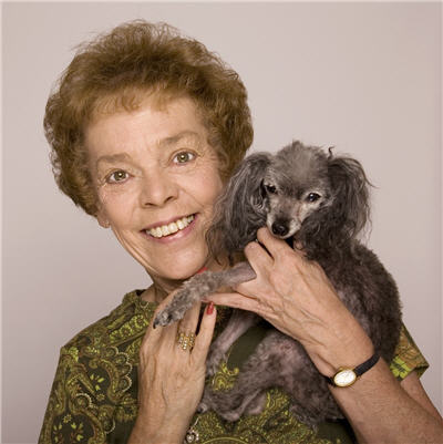 An image of Patti Lewis and her Tea Cup Poodle Bitsy