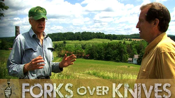 an image from the movie Forks over Knives with Dr. Caldwell Esselstyn