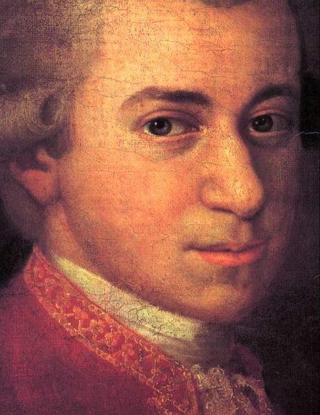 a portrait of Mozart