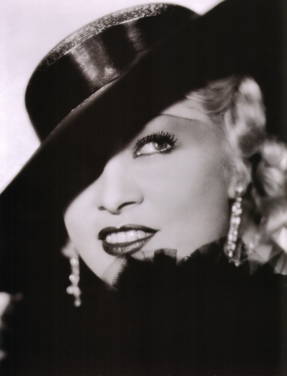 a photo of Mae West, famous hollywood actress