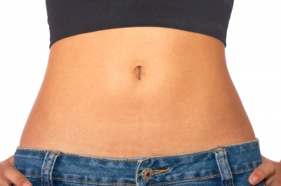 a photo of a woman's flat stomach
