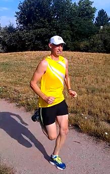 Image of Dale Aychman, 51, running.